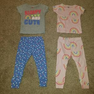 Other - Carter's Baby Girl 4 Piece Mix and match Pajama se